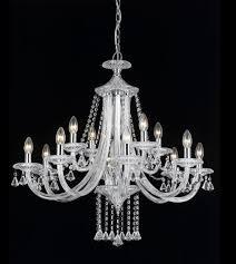 calgary 12 light crystal chandelier impex lighting
