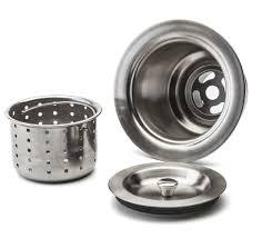 fluxe 3 5 inch stainless steel deep waste basket kitchen sink