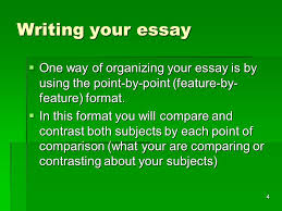 compare and contrast essay ppt  4 writing