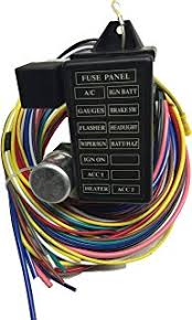 amazon com painless 50003 12 circuit wiring harness with 8 switch Painless Wiring 21 Circuit Harness Free Shipping 12 circuit universal wiring harness 12v 14 fuse with shield EZ Wiring 21 Circuit Harness Ply