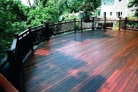 Deck Paint Freshly Stained Wood Deck Deck Paint Ideas Deck