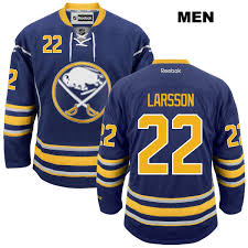 Sabres Johan Mens Jersey Home No Buffalo Larsson Stitched Reebok Nhl Navy 22 Authentic