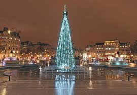 Trafalgar Square lit up for Christmas with giant tree | London ...