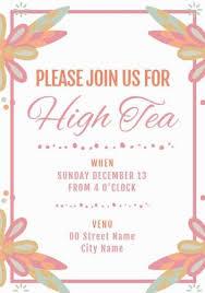 tea party templates 200 fully customizable tea party invitation templates