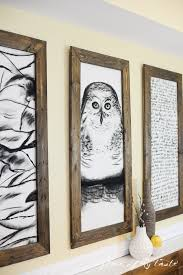 giant hand sketched wall art and diy frames place of my taste  on large wall art ideas with remodelaholic 60 budget friendly diy large wall decor ideas