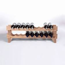 bottle stackable wine rack kit (natural)  wine enthusiast
