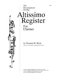Altissimo Clarinet Chart Clarinet Altissimo 2019
