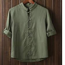Men casual Shirts Chinese <b>Style</b> Vintage Summer Kung Fu Shirt For ...