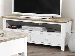 white tv stand. Interesting White Florence TV Unit With 2 Drawers WHITE Stand Shelf And Brushed  Acacia Top Intended White Tv Stand