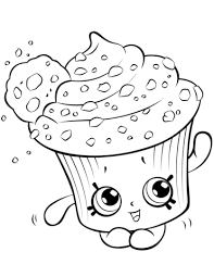 Small Picture Creamy Cookie Cupcake Shopkin coloring page Free Printable