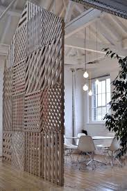 diy office partitions. Divider-partition-DIY-doors-lattice-rope Diy Office Partitions