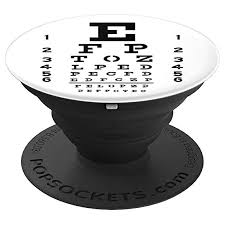 Eye Chart Snellen Design For Eye Doctors Optometrists Popsockets Grip And Stand For Phones And Tablets