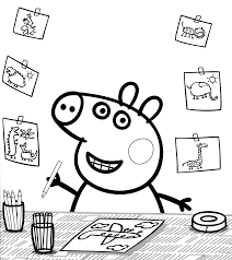 Peppa Pig Immagini Colorare Disegni George Dinosauro Episodi Cartoni