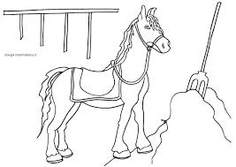 Disegno Da Colorare Per Bambini Il Cavallo E Il Fieno Disegni