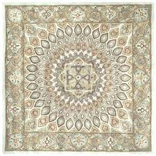 8 ft square rug handmade heritage timeless traditional blue grey wool sisal 8x8 area rugs bedro