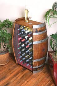 Image Barrel Bar Image Etsy 32 Bottle Wine Barrel Cabinet With Metal Wine Rack Etsy