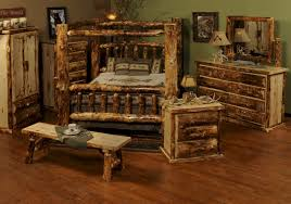 Pine Log Bedroom Furniture Rustic Wood Bedroom Furniture Wildwoodstacom
