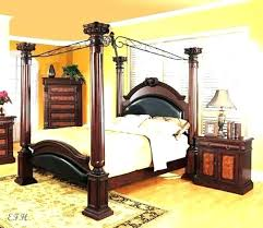 Wood Canopy Bed King Size Twin – lazervaudeville.com