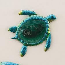 small metal glass turtle wall art
