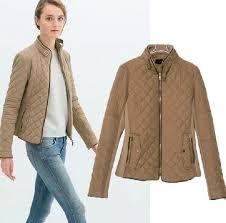 European style ladies quilted jacket stitching Slim long sleeved ... & European style ladies quilted jacket stitching Slim long-sleeved cotton  jacket collar short jacket 0518 Adamdwight.com