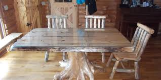 beautiful wood table with a glass table