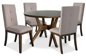 dining table package with beige chairs hover to zoom