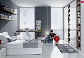 Attractive Bedroom Beach Themed Bedroom For Teenager Grey White Contemporary Teenagers  Room Clean Teenagers Rooms Decorating Space
