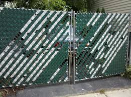 image of painting chain link fence style