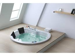 Bathroom : Minimalist Small Jacuzzi Hot Tub Design Insert On Floor As Well  Small Sloping Glass Window In The Nearby As Well Simple Wooden Floating  Shelves ...