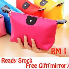 Ready Stock  <b>Women Travel Cosmetic Storage</b> Pouch Makeup Bag ...