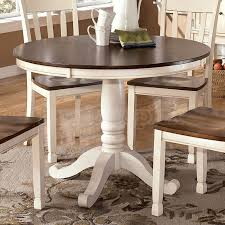 extendable dining room table by signature design by ashley. dining beautiful round table marble top on ashley extendable room by signature design t
