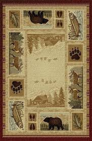 mountain cabin lodge area rug rugs rustic log