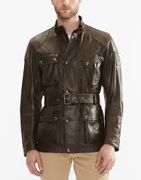 belstaff the panther jacket in black brown signature hand waxed leather larger image