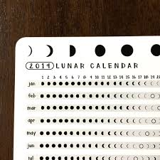 2020 Lunar Calendar Astrology Card Bullet Journal Gifts