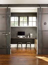 office sliding door. Industrial Interior Feat Home Office Sliding Door Made From Metal Throughout Proportions 850 X 1150