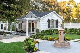 white ranch house luxury ranch house plans gable roof white exterior double glass doors big windows