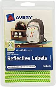 Avery Reflective Labels, Green and Orange, Assorted ... - Amazon.com