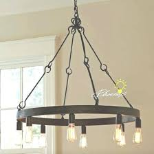 antique bulbs iron chandelier in rusted finish free bulb edison big lots