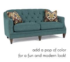 tufted furniture trend. Unique Trend Tufted Peacock Teal Sofa In Furniture Trend