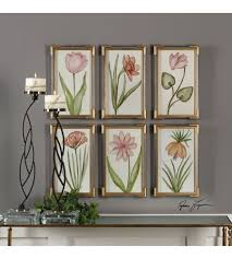 uttermost 41495 pretty in pink gold leaf floral wall art photo on pink and gold floral wall art with uttermost 41495 pretty in pink gold leaf floral wall art