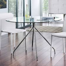 modern round glass table in small dining room round glass dining room table