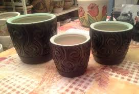 painting clay pots and impressionism hand painted pot ideas
