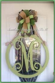 letters for front doorBest 25 Initial door hanger ideas on Pinterest  Monogram wreath
