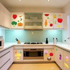 Wall Art For Kitchen Cute Cartoon Fruits Wall Art Mural Decor Kitchen Wall Decoration