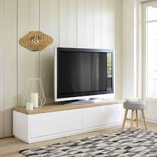 tv units celio furniture tv. Porta-TV Bianco In Massello Di Quercia L 180 Cm | Maisons Du Monde Tv Units Celio Furniture