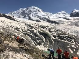 Neuer Hüttenweg zur Monte Rosa Hütte - Section Monte Rosa