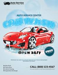 Car Wash Flyer Template 24 Car Wash Flyer Designs Examples PSD AI 13