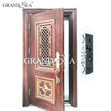 Steel Front Doors Residential Double Entry With Regard To Designs 6
