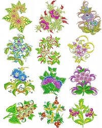 Machine Embroidery Patterns Gorgeous Exotic Flowers Set 48 Machine Embroidery Designs Embroidery Patterns