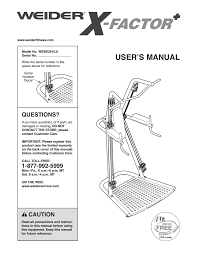 Weider Webe2910 Users Manual Manualzz Com
